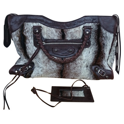 "Balenciaga ""City Bag"" with fur"