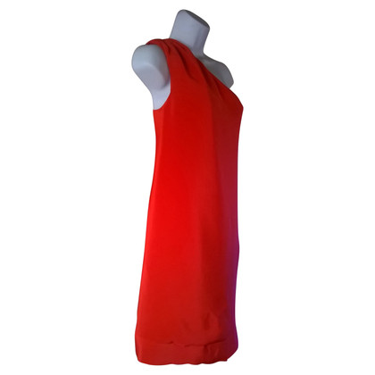Reiss Silk dress in coral red