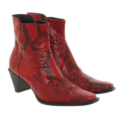 JOOP! Ankle boots made of snakeskin