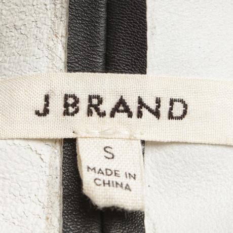 Brand Leder Weste J aus J Brand J Weste Schwarz aus Brand Schwarz Leder xXfOFA6