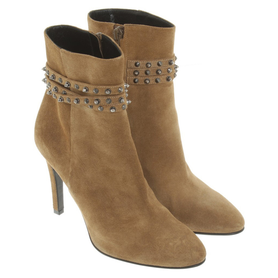 Saint Laurent Stiefelette in Beige