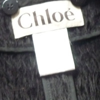 Chloé Black coat with alpaca