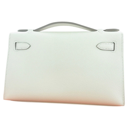 "Hermès ""Kelly clutch Mini Epsom Chalk GHW"""