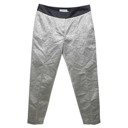 Karen Millen trousers in silver / black