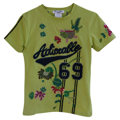 Christian Dior T-shirt con ricamo
