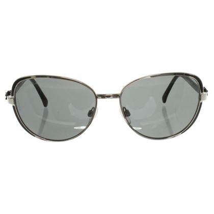 Chanel Zonnebril in Zilver / zwart