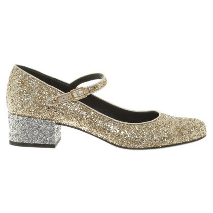 Saint Laurent pumps with glitter coating