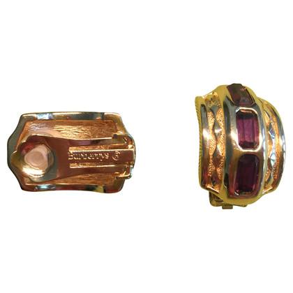 Burberry Vintage clip oorbellen