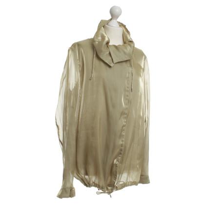 Jil Sander Semi transparante blouses jas