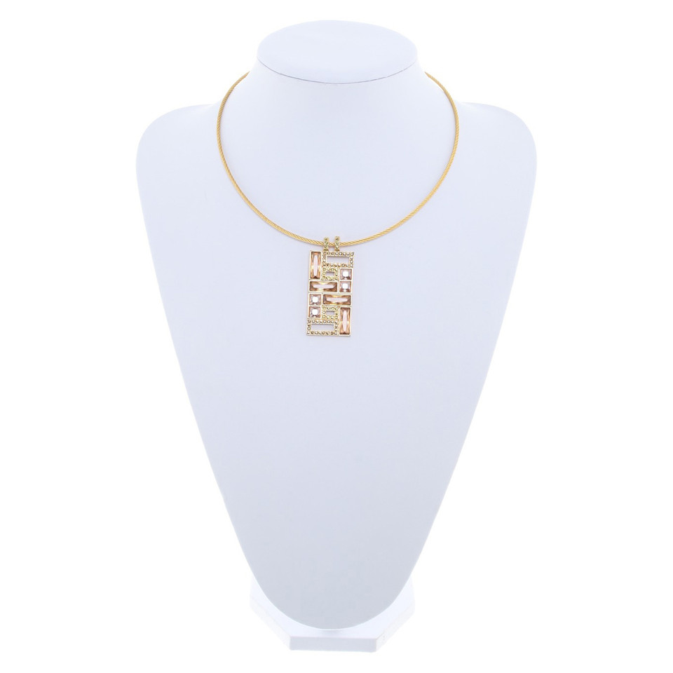 Swarovski Gold colored neck