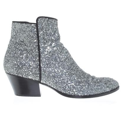 Giuseppe Zanotti Silver colored ankle boots