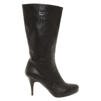 Miu Miu Bison leather boots