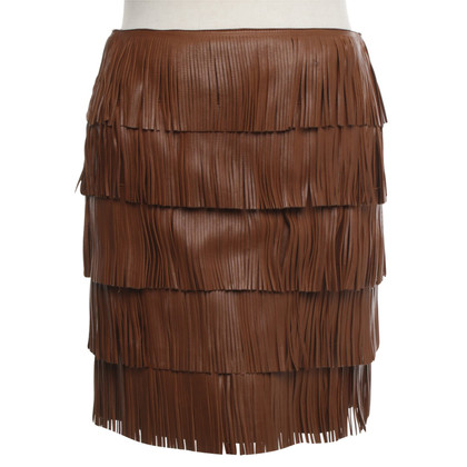 Prada Leather skirt in brown