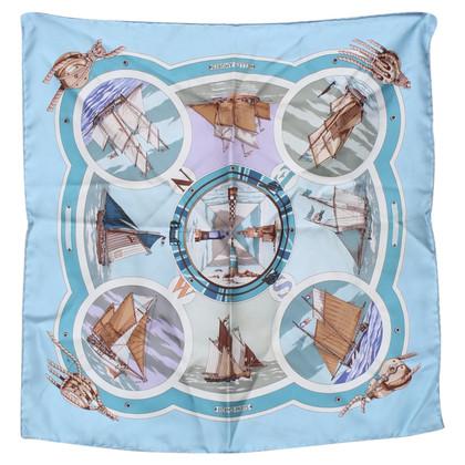 Hermès Zijden sjaal met een maritiem thema