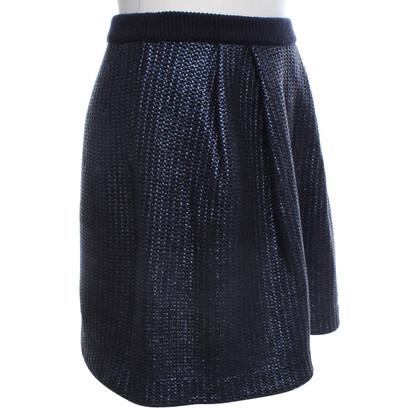Tory Burch Knitted skirt in dark blue