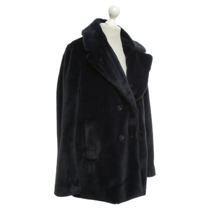 Closed Fur jacket in dark blue