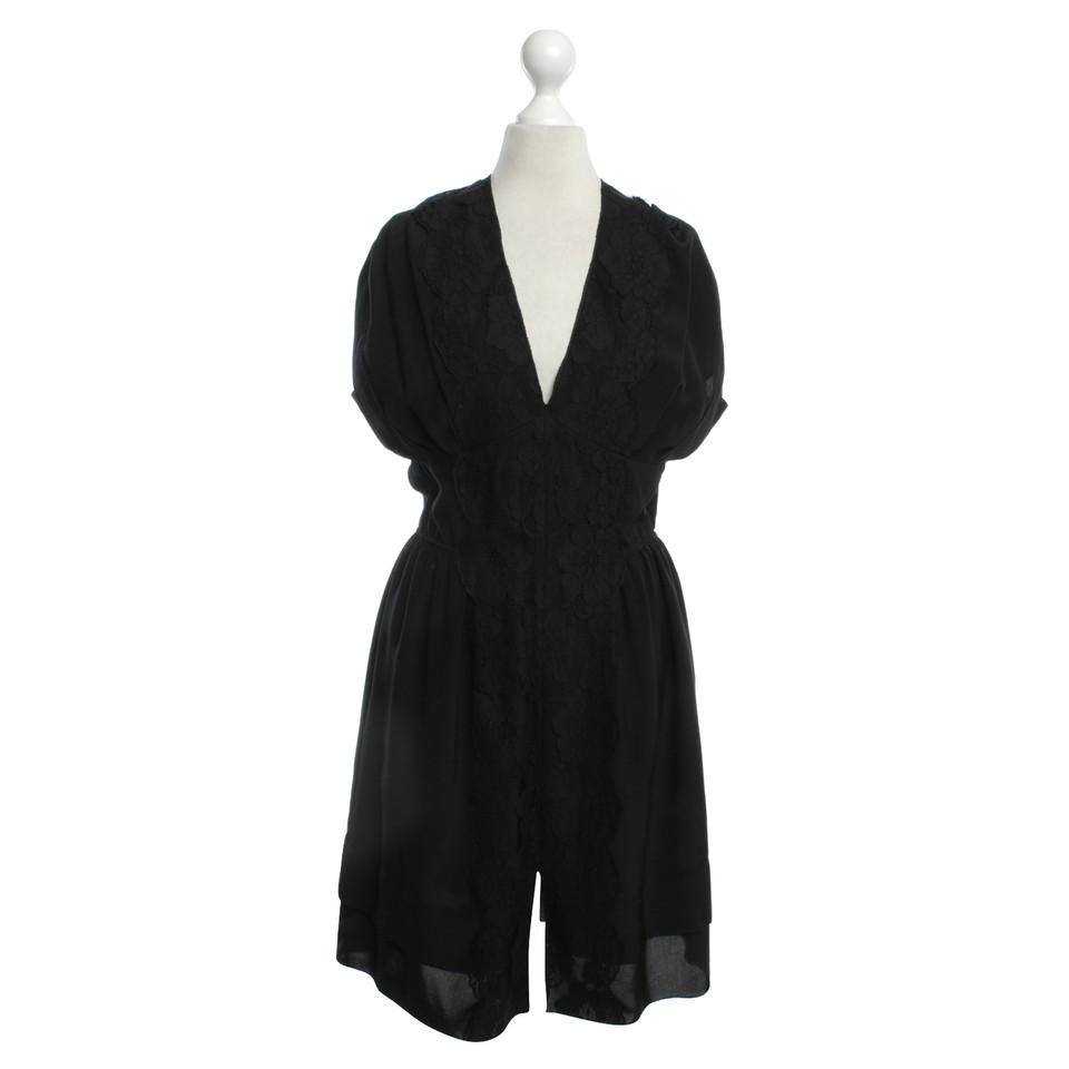Kleid mit Spitzen-Besatz - Second Hand Marc Jacobs Kleid mit Spitzen ...