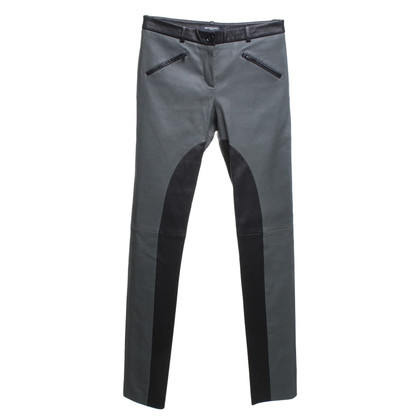 Michalsky pantaloni di pelle in nero / verde