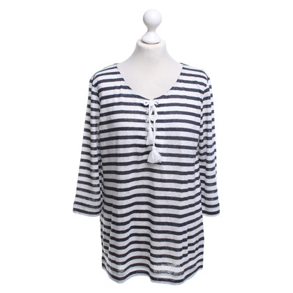 Bloom top with stripe pattern