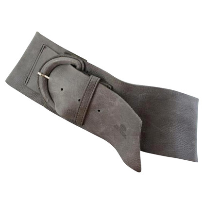 Fred de la Bretoniere Gray leather waist belt