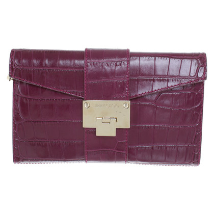 Jimmy Choo clutch in Bordeaux