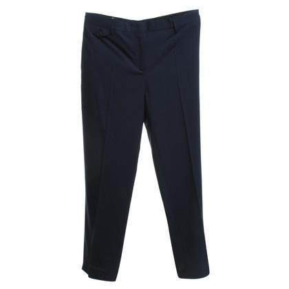 Prada pantaloni pieghettati in blu scuro