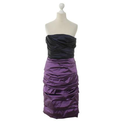 Dolce & Gabbana Bandeaukleid black/purple