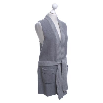 Chloé Long knit vest in grey