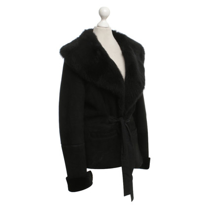 Max Mara Lambskin jacket in black