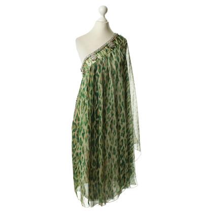 Christian Dior One-shoulder dress with bells