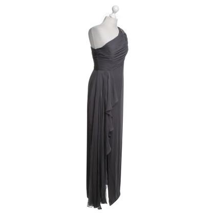 Marchesa Silk evening dress in grey