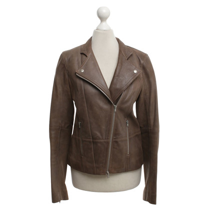 Chloé biker jacket in marrone