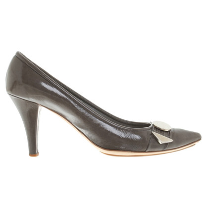 Marc Jacobs Lackleder-pumps in grey