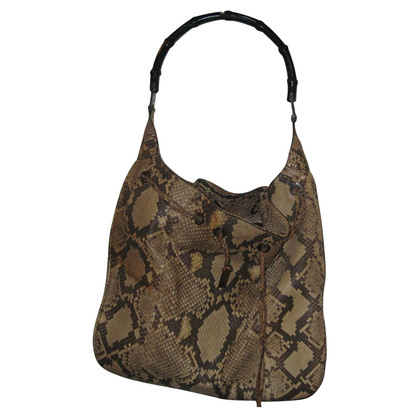 Gucci Tote Bag aus Pythonleder