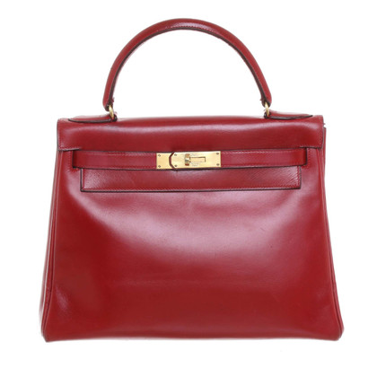 "Hermès ""Kelly Bag 28"" in Cherry Red"