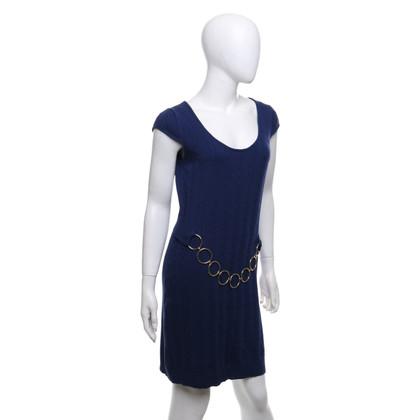 Milly Gebreide jurk in blauw