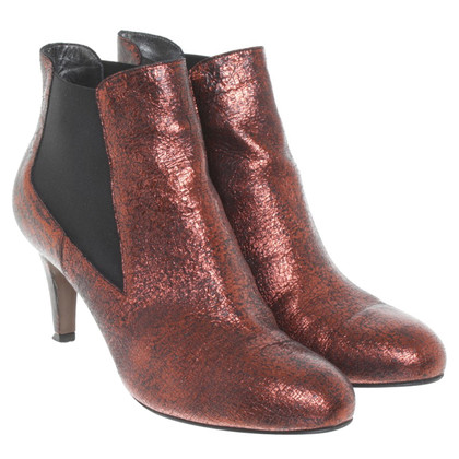 Navyboot Ankle boots in copper red