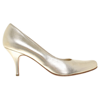 Marina Rinaldi Gold colored pumps
