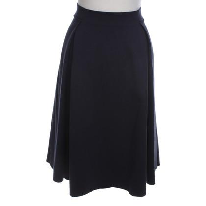 Armani Collezioni A-lijn rok in donkerblauw