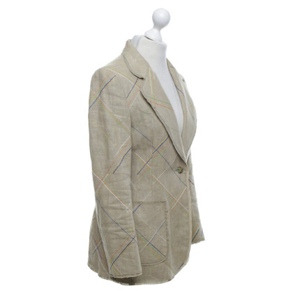 Moschino Cheap and Chic Leinen-Blazer in Beige