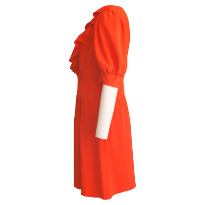 Chloé Seidenkleid in Rot/Orange