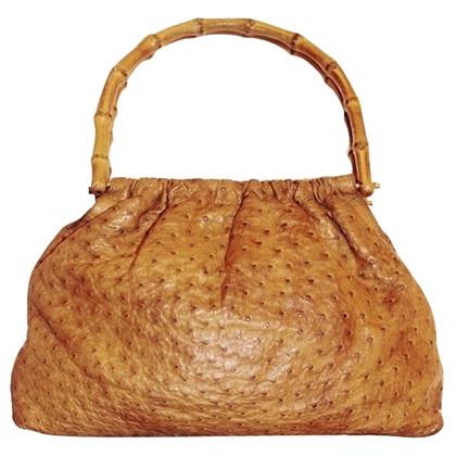 Gucci Ostrich bamboo bag