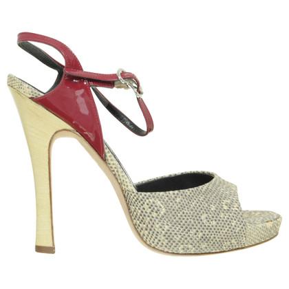 Alexander McQueen High heel sandal in reptiles