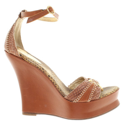 Just Cavalli Wedges im Reptil-Look