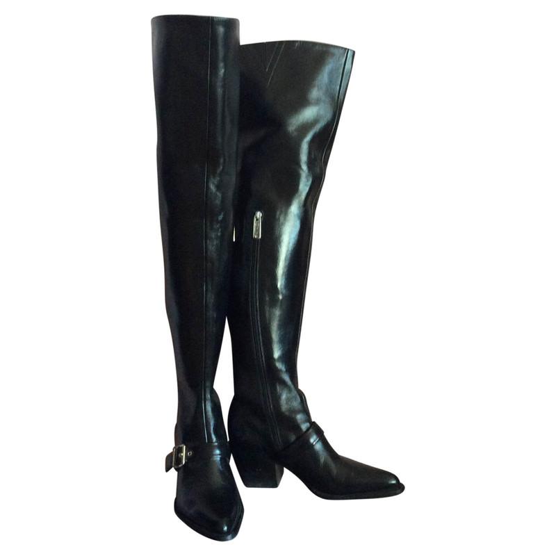 Chloé Hand Stiefel Aus Second Leder Schwarz In vmw0y8NOPn