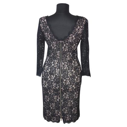 Diane von Furstenberg Lace dress in dark blue
