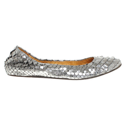 Lanvin Python leather ballet flats