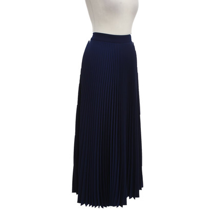 Max Mara Long pleated skirt in blue
