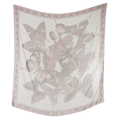 Barbara Bui Silk scarf with butterfly print