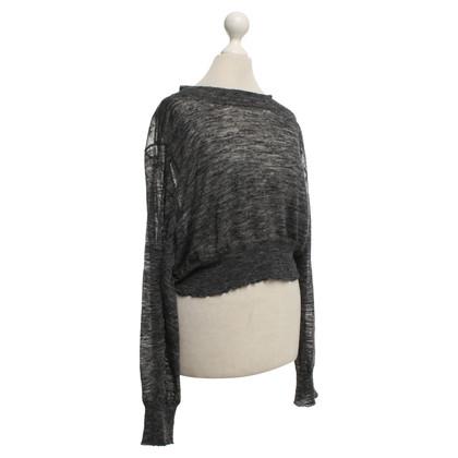 Isabel Marant Cropped fine knit sweater